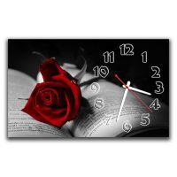 Настенные часы Роза в книге, 30х50 см