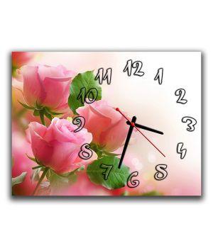 Настінний годинник Рожеві троянди, 30х40 см