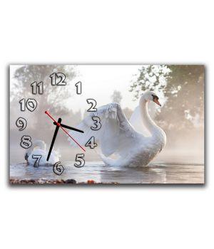 Настінний годинник Лебідь, 30х50 см