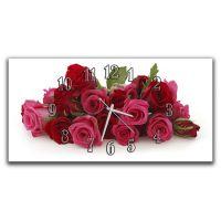 Настінний годинник Букет червоних троянд, 30х60 см