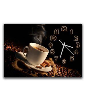 Настенные часы Горячий кофе, 30х45 см