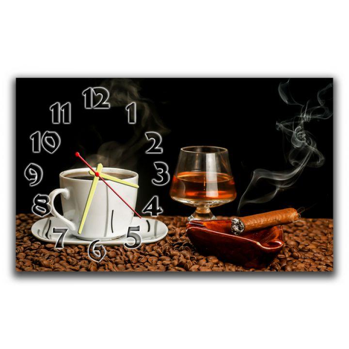 Настенные часы Кофе и виски, 30х50 см