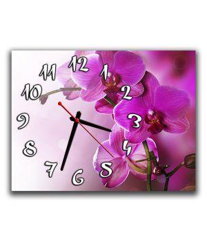 Настінний годинник Орхідея, фіолет, 30х40 см