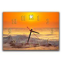 Настенные часы Море, закат, 30х45 см