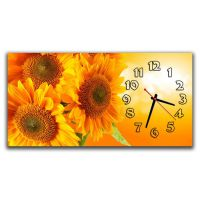 Настінний годинник Соняшники, 30х60 см
