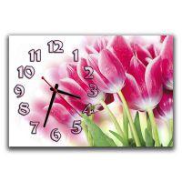 Настенные часы Чудесные тюльпаны, 30х45 см