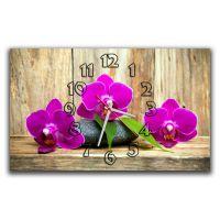 Настенные часы Фиолетовые орхидеи, 30х50 см