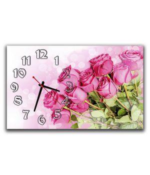 Настінний годинник Букет троянд, 30х50 см