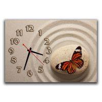 Годинник настінний Метелик на камені, 30х45 см