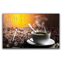 Настенные часы Чашка кофе, 30х50 см