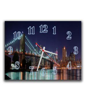Настінний годинник Міст, 30х40 см