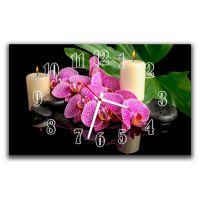 Настенные часы Чувственные орхидеи, 30х50 см