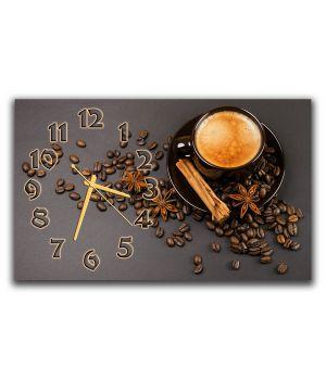 Настенные часы Кофе с корицей, 30х50 см