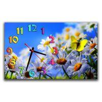 Настіний годинник Ромашки і метелик, 30х50 см