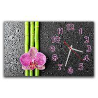 Настенные часы Розовая орхидея, 30х50 см