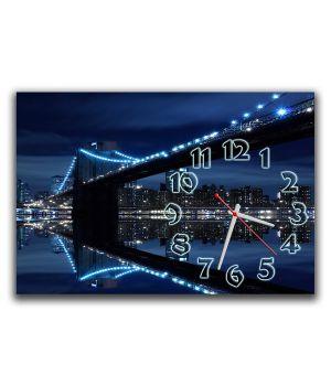 Настінний годинник Вечірнє місто, 30х45 см