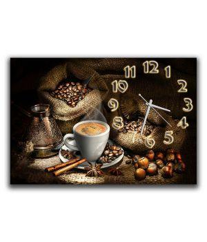 Настенные часы Кофейная нотка, 30х45 см