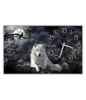 Настенные часы Волки, 30х50 см