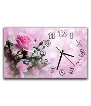 Настінний годинник Ніжна троянда, 30х50 см