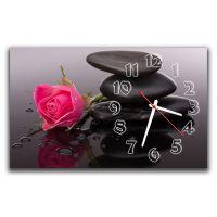 Настінний годинник Рожева троянда, 30х50 см