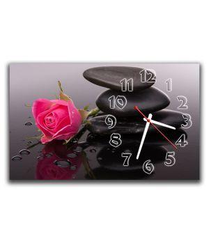 Настенные часы Розовая роза, 30х50 см