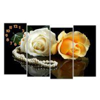 Модульний годинник Троянди і намисто, 120х80 см