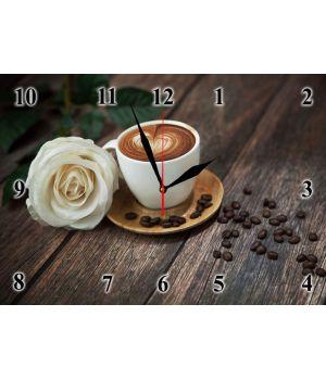 25х35 см, Стеклянные часы настенные, 77962