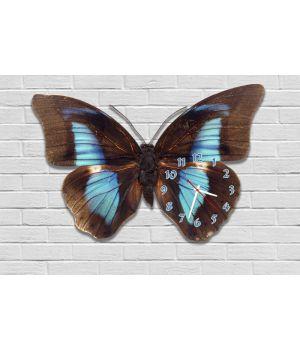Фігурний настінний годинник з 3D ефектом Метелик F87, 30х45 см
