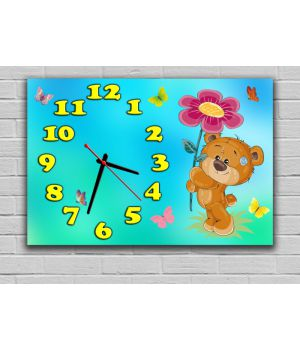 Настенные часы Мишка 68961, 30х45 см