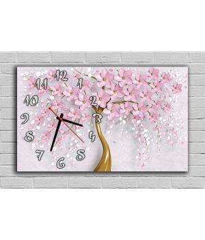 30х50 см, Розовое цветочное дерево