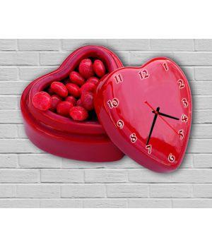 Фігурний настінний годинник з 3D ефектом Подарунок F5, 30х40 см