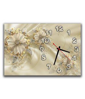 Настенные часы Цветы 68963, 30х45 см