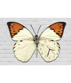 Фігурний настінний годинник з 3D ефектом Метелик F84, 30х45 см