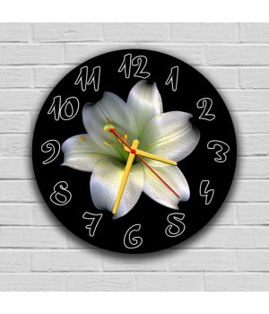 Круглий настінний годинник Квітка 69093, 30х30 см