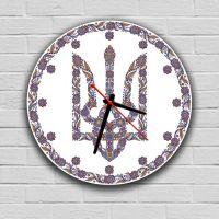 Круглые настенные часы Герб Украины, 30х30 см