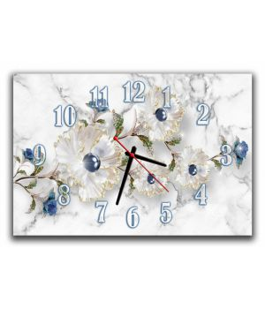 Настенные часы Цветы 68964, 30х45 см
