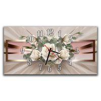 Настінний годинник Квіти 69014, 30х60 см