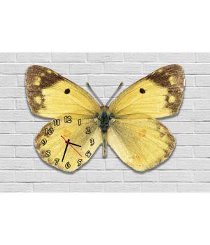 Фігурний настінний годинник з 3D ефектом Метелик F83, 30х45 см