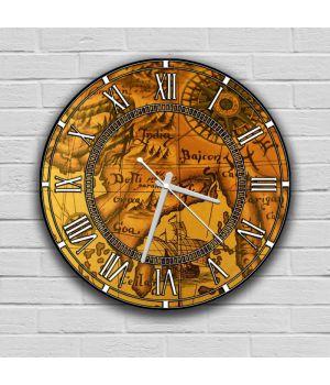 Круглые настенные часы Ретро, 30х30 см