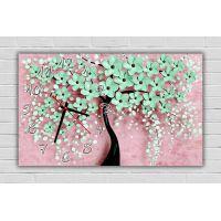 30х50 см, Бірюзове квіткове дерево