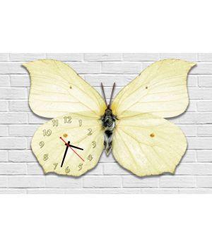 Фігурний настінний годинник з 3D ефектом Метелик F91, 30х45 см