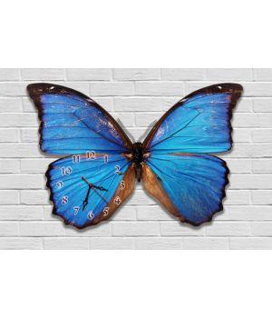 Фігурний настінний годинник з 3D ефектом Метелик F82, 30х45 см