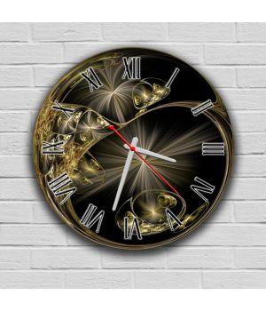 Круглий настінний годинник Абстракція 69085, 30х30 см