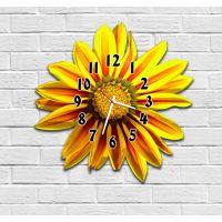 Фигурные настенные часы в детскую с 3D эффектом IdeaX Цветок F31, 30х30 см