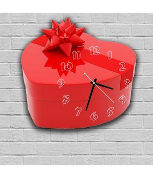 Фігурний настінний годинник з 3D ефектом Коробка F1, 30х30 см