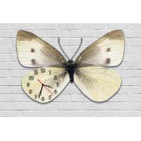 Фигурные настенные часы с 3D эффектом IdeaX Бабочка F81, 30х45 см