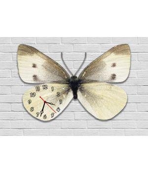 Фігурний настінний годинник з 3D ефектом Метелик F81, 30х45 см