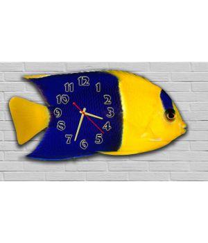 Фигурные настенные часы с 3D эффектом IdeaX Рыба F10, 30х60 см