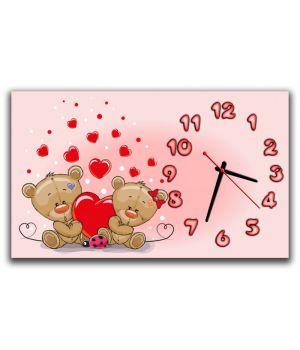 Настенные часы Медвежата 69027, 30х50 см