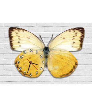 Фігурний настінний годинник з 3D ефектом Метелик F90, 30х45 см